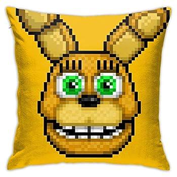 Adventure Spring Bonnie FNAF World Pixel Art Square Pillowcase Case Throw Pillowcase Sofa Cushion Car Cushion Indoor Decorations Chair Pillowcase