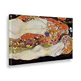 Giallobus - Cuadro - Impresion EN Lienzo - Gustav Klimt - Serpientes DE Agua - 80 x 140 CM
