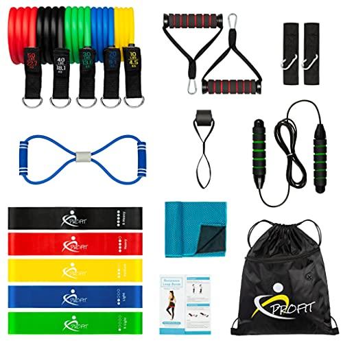 Set Bandas Elásticas de Resistencia – Crossfit, Fitness, Pilates, Fisioterapia, Musculación para Hombre y Mujer. Prueba...