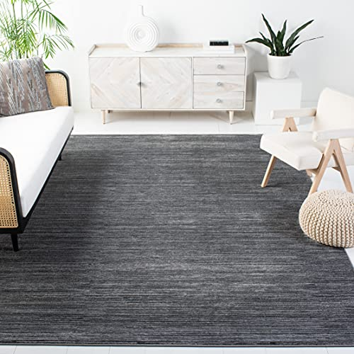 Safavieh Vision Collection VSN606D Modern Ombre Tonal Chic Non-Shedding Stain Resistant Living Room Bedroom Area Rug, 8' x 10', Grey
