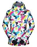 HTMSR Damen Skijacke Warm Jacke Gefüttert Winter Jacke Outdoor Funktionsjacke Outdoor Funktionsjacke Regenjacke,L