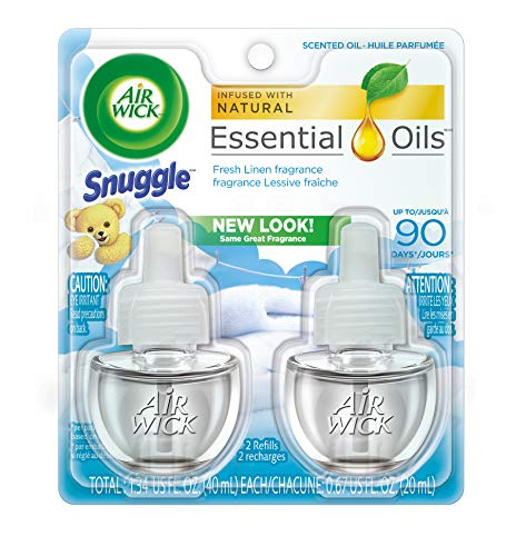 Air Wick Essential Oils Twin Refill Fresh Linen (2X.67) oz (Pack of 2)