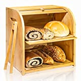 Best Bread Boxes - Bamboo Bread Box, Finew 2 Layer Rolltop Bread Review