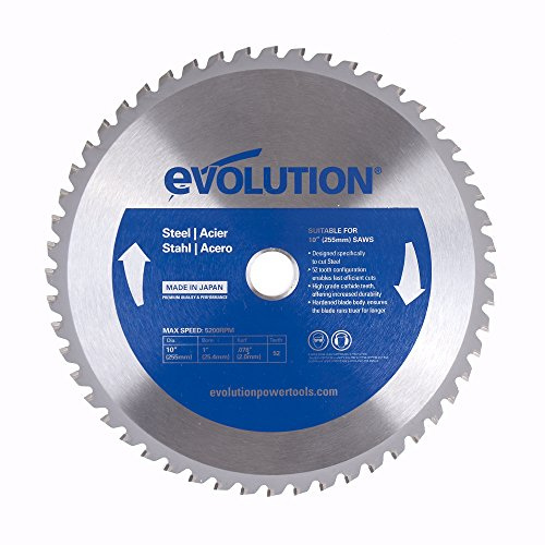 Evolution Power Tools 10BLADEST Steel Cutting Saw Blade, 10-Inch x 52-Tooth , Blue