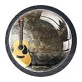 Tiradores de muebles de, Perilla del cajón de , Gabinete maneja, Manija de los muebles, Tiradores para muebles tiradores(4 pcs)Guitarra acústica contra la pared