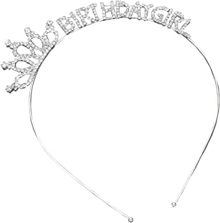 Rosemarie Collections Women's Rhinestone Birthday Girl Tiara Headband