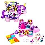 Polly Pocket coffret Licorne en Fête avec mini-figurines Polly et Lila, plusieurs zones de jeu, 25 surprises et accessoires, jouet pour enfant, GVL88