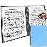 【ダサズニカケール】【A-Flat】楽譜を取り出さずに書き込み可能 リングファイル A4 音楽ファイル (リングファイル(40ページ), 青)