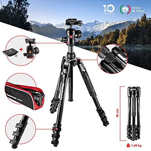 Manfrotto MKBFRLA4BK-BH Befree Advanced Treppiede da Viaggio,...
