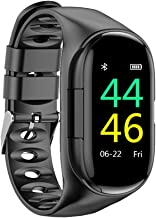 RUIQIMAO Smart Watch Bracelet Wireless Bluetooth Earbuds Headset Headphones, 2 in 1 AI Fitness Tracker Band with Heart Rate, Blood Pressure Monitor,Waterproof Activity Tracker,Calorie Reminder