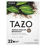 Tazo Awake English Breakfast K-Cup Pods For a Bold Traditional Breakfast-Style Tea Black Tea Caffeinated Tea Morning Drink 22 CT