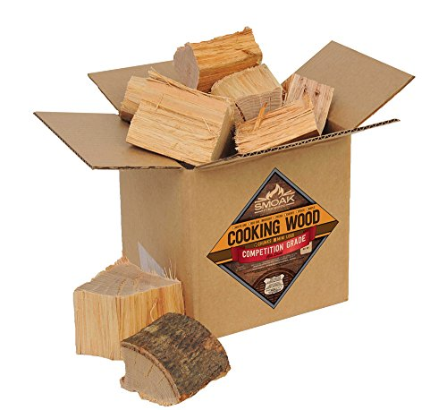 Smoak Firewood Cooking Wood Chunks - USDA Certified Kiln Dried (Hickory, 8-10 lbs)