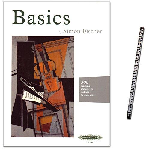 Basics van Simon Fischer – 300 oefeningen: rechterarm en rechter hand, geluid, de belangrijkste lijntechnieken, linker hand, positionering en vibrato – noten met muziekstift