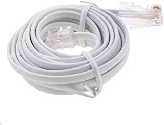10 feet Telephone RJ11 6P4C to RJ45 8P4C, Network to Telephone, Connector Plug Cable, RJ11 to RJ45 Cable Connect Router to ADSL Filtered RJ45 Socket