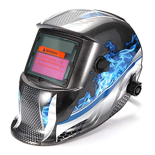 OurLeeme Casco para Soldar, Gafas Solares Lente Fotoeléctrico Protección UV Soldador Máscara Casco Ojos Automáticos Gafas