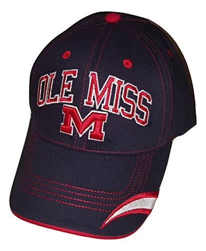National Cap Ole Miss Rebels Adjustable Cap End Zone Hat