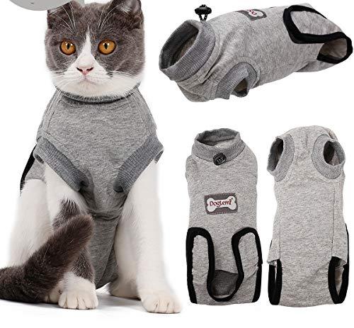 Komate Cat Multifunctional Recovery Suit für die Nachoperation Bauchwunden oder Hautkrankheiten schützen das Hemd für Tierchirurgie Pet E Kragen Alternative Cotton Cat Shirt (XS (Länge 30-35 cm))