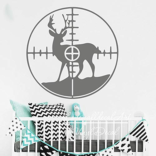 Deer in Crosshairs Decal Hunting Deer Animal Wall Decal Sticker Vinyl Bedroom Home Decor Made in USA