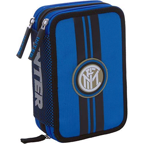 Inter Astuccio Corredo 3Zip Con Penna Frixion Blu, taglia unica