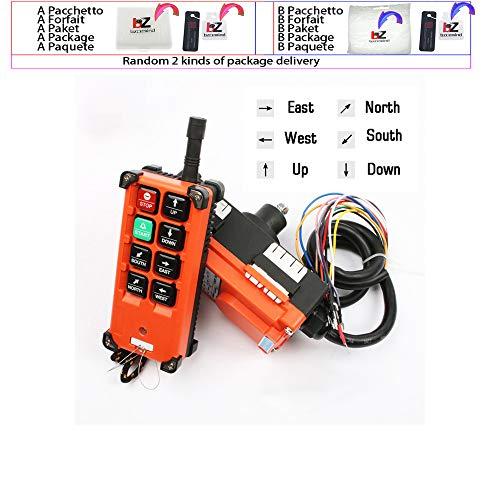 Mando a distancia inalámbrico distancia interruptores de control industrial universal para el interruptor de puente grúa de 6 canales F21-E1B Azul Naranja,YK-FX-,AC 220V