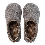 B/H Classic Slipper,Pantuflas cálidas de algodón Antideslizante, Zapatos de confinamiento en el talón del Bolso-Gris Oscuro A_M (40-41),Slippers Suave