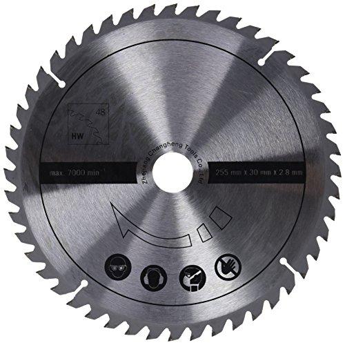 Scheppach 7901200706 Zubehör Säge/HW-Universalsägeblatt, passend für die Multifunktionssäge HM100MP, eignet Sich für Vollholz und Laminat, Durchmesser 255 x 30 x 2,8 mm / 48 Z