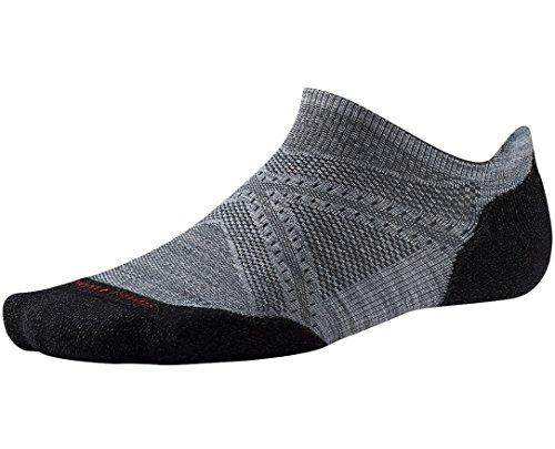 Smartwool PhD Run Light Elite Micro Light Gray/Black MD (Men's Shoe 6-8.5)