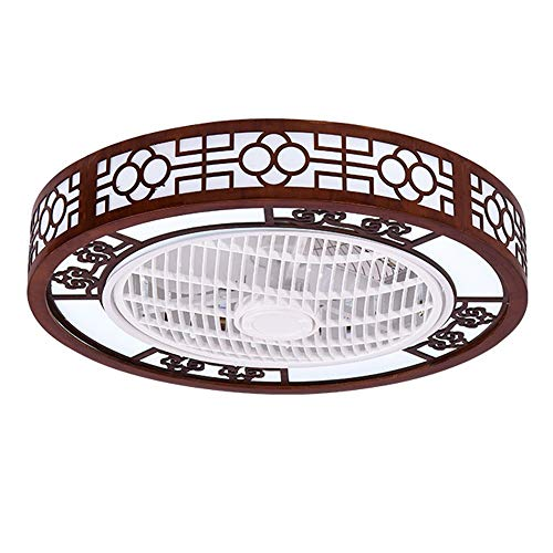 Lámpara de techo de roble de roble de roble redondo, iluminación de techo, luz colgante de dormitorio, sala de estar, lámpara colgante moderna, diámetro 22.44in, altura 7.87in