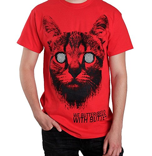We Butter The Bread With Butter - Katze Red - T-Shirt-Small