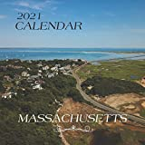 "Massachusetts: 2021 Wall Calendar - Mini Calendar, 8.5""x8.5"", 12 Months"