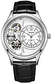 MEGIR ML2017GBK-7 Analog Leather Watch for Men