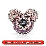 Profumatore Purificatore d'ambiente Junsun Custom Car Logo profumo Car Styling Lady Profumi auto Deodorante diamante del condizionatore d'aria Uscita clip decorazione leggero (Color Name : Renault)