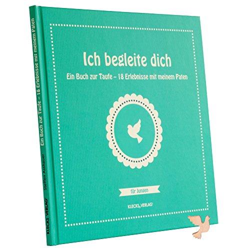 Ich begleite dich: Ein Geschenk zur Taufe - Patengeschenk - für Jungen - inkl Gratis Holztaube