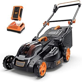 Tacklife Cordless 40V Max 4.0Ah Battery 16 Inch Brushless Lawn Mower
