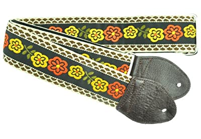 Vintage Hippie Marigold Guitar Strap