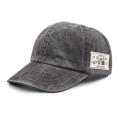 Pesaat - Sombrero de sol para niño, primavera, verano y bebé, de algodón lavado, sombrero a la moda de 2 a 6 años