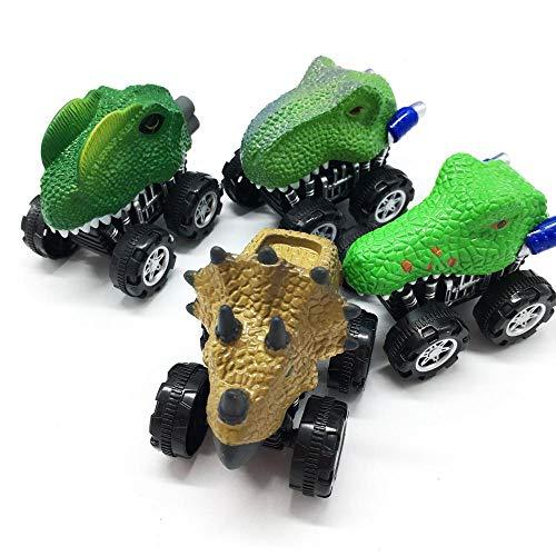 PAWACA Pull Back Dinosaur Cars, 4 Pcs...