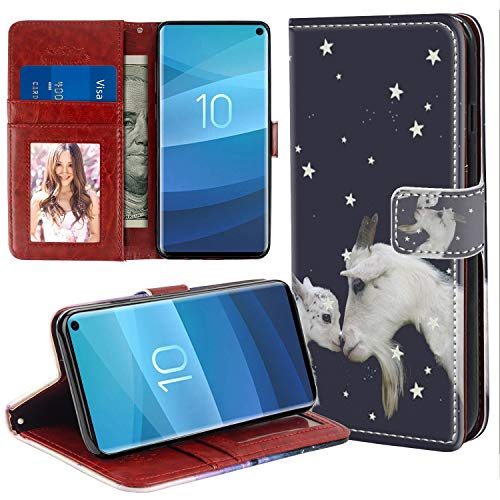 YaoLang Samsung Galaxy S10e Wallet Case, Goat PU Leather Standable Wallet Phone Case with Card Holder Magnetic Hold for Samsung Galaxy S10 Lite