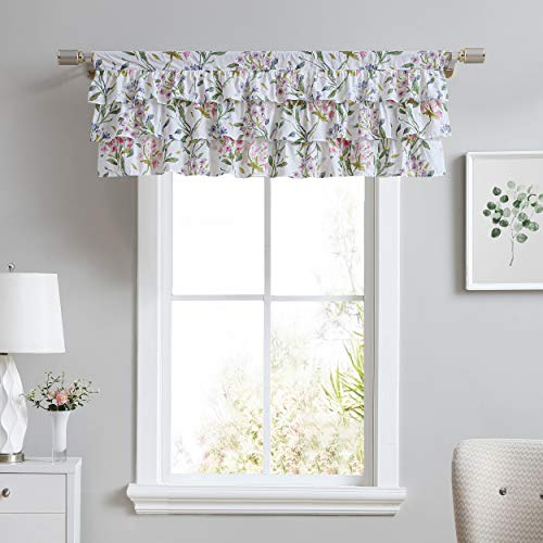 Laura Ashley Home | Valance 100% Cotton, Chic Window Treatment for Home Décor, 18 x 50, Meadow Breeze