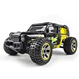 KRCT 1/10 de gran tamaño coche teledirigido 4X4 Potente grande del pie del camino de control de camiones de 2,4 GHz Radio 40 km / h alta velocidad Rc Racing Vehículo Amarillo