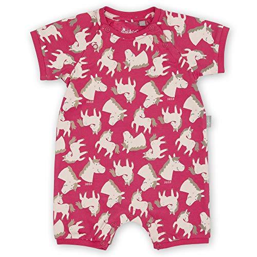 Sigikid Baby-Mädchen Schlaf-Overall, Schlafanzug aus Bio-Baumwolle für Kinder Mamelucos para bebés y niños pequeños, Rosa/Pony, 80 cm