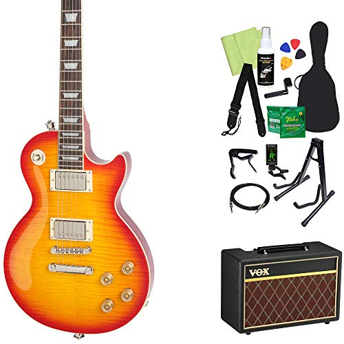 Epiphone Les Paul Tribute Plus Outfit Faded Cherry エレキギター 初心者14点セット【VOXアンプ付き】 レスポール エピフォン