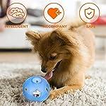 LumoLeaf Balle de jouet Dog Treat, boule interactive de distribution de nourriture de avec le contrôle de difficulté pour les petits et moyens chiens et chats, 12.5cm, Blue #1