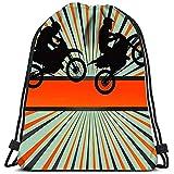 Dingjiakemao Bolsa De Cuerdas Bolsas Race Motorcycle Burst Bolsas De Hombro Portátiles Travel Sport Gym Bag