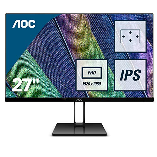 AOC 27V2Q 27 Inch 1920 x 1080 75Hz Widescreen IPS LED Monitor, Frameless...