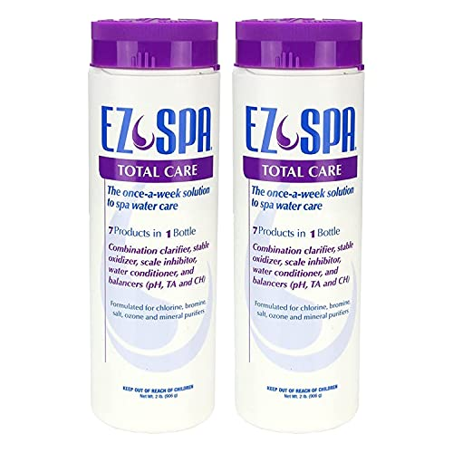 EZ Spa EZSTC2 Hot Tub Total Care Weekly Water Preventative Chemical Treatment Blend for Hot Tubs and Spas, 2 Pounds (2 Pack)