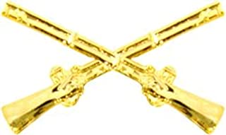civil war crossed rifles pin