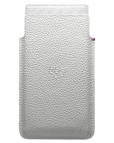 BlackBerry Leder Pocket Hülle für Rio weiß