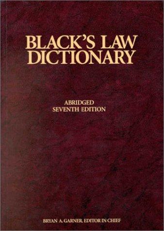 Blacks Law Dictionary, 7th Edition