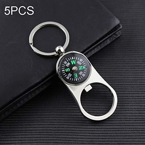 ZYL-YL 5 PCS Männer Taille hängenden Kompass Flaschenöffner Schlüsselring, Größe: 10x3.4cm Durable
